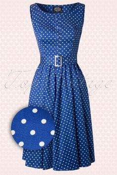 Hearts And Roses Blue White Polkadot Swing Dress 102 39 12921 20140319 0008 FrontWAV
