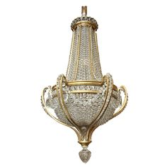 A magnificent quality Louis XVI style bronze and crystal Baccarat eleven lights chandelier. The Baccarat mark is stamped on the bronze at the bottom.