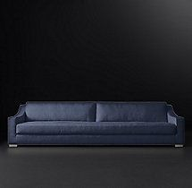 10' Modena Slope Arm Fabric Sofa