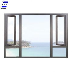 aluminum casement window new designs customized color – Back yard grill Steel Doors And Windows, Aluminium Windows And Doors, Sliding Windows, Casement Windows, Barbeque Design, Grill Design, House Windows, Facade House, Aluminum Windows Design