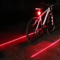Bicycle LED Tail Light Safety Warning Light 5 LED+ 2 Laser Night Mountain Bike Rear Light Lamp Bycicle Light EA14