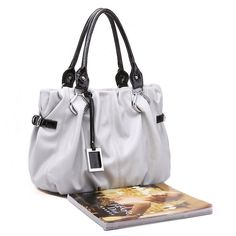 JSR Lady Handbag Shoulder Bag - Gray [010472-11] - $34.00
