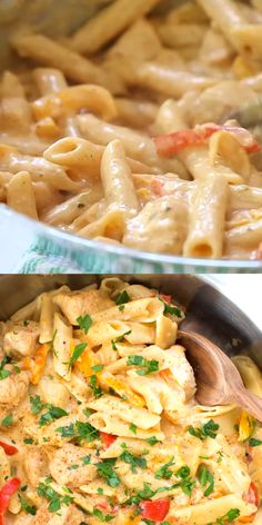 One Pot Creamy Cajun Chicken Pasta is made in only one pot with fresh peppers, chicken, Parmesan cheese and more! It doesn't get any easier than a cajun chicken pasta penne recipe made in one pot. pasta recipes videos One Pot Cajun Chicken Pasta Chicken Pasta Recipes, Easy Pasta Recipes, Healthy Dinner Recipes, Cooking Recipes, Pasta Food, Chicken Penne Pasta, Pasta Ideas, Pasta Recipe With Chicken Broth, Chicken Meals