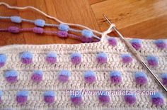 Such a clever technique!! No yarn to cut and weave in every two rows!!! sweet #crochet!!