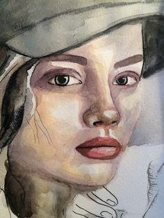 #art #artwork #face #portrait #girl #watercolor #painting #акварель #портрет #принт