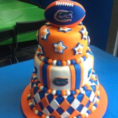 florida gators baby shower cake | University Of Florida Gators UF Football Themed Wedding Cake Topper