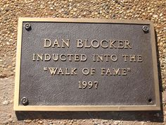 Dan Blocker on West Texas Walk of Fame....Really loved him on Bonanza<3