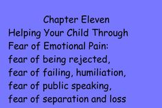 Fear of pain can stop a child from trying. There are ways you can help!