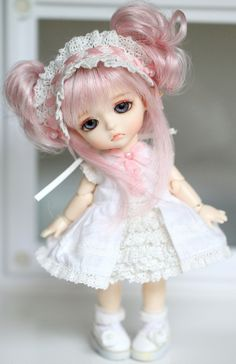 cute pink hair #dolls