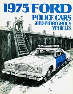 Vintage Police Car Brochure ★。☆。JpM ENTERTAINMENT ☆。★。