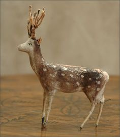 painted spun cotton deer