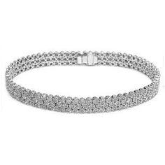 Diamantarmband mit 5.25 Karat Diamanten aus 585er Weißgold