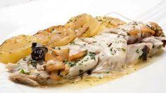 Receta de Besugo al horno con patatas #receta #besugo