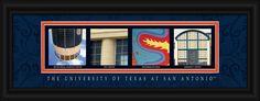 University of Texas at San Antonio Officially Licensed Framed Letter Art