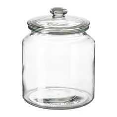 $4.99 IKEA - VARDAGEN, Jar with lid, The transparent jar makes it easy to find what you are looking for, regardless of where it is placed.You can reduce your food waste by storing your dry foods in a jar with a tight-fitting lid, because it keeps the food fresh longer.