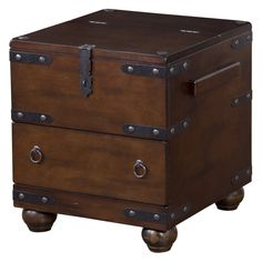 Southern Enterprises Pyramid Trunk End Table   Espresso   The Possibilities  Are Endless With The Pyramid Trunk End Table. Top It With A Plant Oru2026