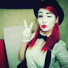 Mime Makeup, Halloween Face Makeup, Costume Ideas, Costumes, Clowns, Goth, Life, Instagram, Girls