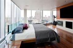 The Skyloft Penthouse in Tribeca Offered at $45 Million! | HomeDSGN, a daily source for inspiration and fresh ideas on interior design and home decoration.