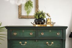 Amsterdam Green Chalk Painted Dresser