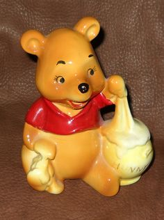 Vintage Winnie the Pooh Figurine Japan Disney by SomethingWiccan, $20.00