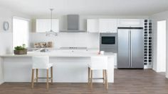 The 'Working Triangle': the space between the fridge, sink and oven/cooktop. As a simple guideline, make sure each unit is no more than three metres apart for easy access.