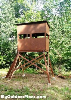 9 Free DIY Deer Stand Plans: DIY Deer Shooting Blind from My Outdoor Plans