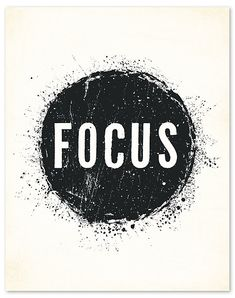 I think I need to hang this by my desk! FOCUS! $22 Motivational Quotes, Me Quotes, Inspirational Quotes, Stay Focused, Jolie Phrase, Family Wall, Note To Self, Attraction, Law