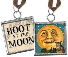 hoot at the moon pendant