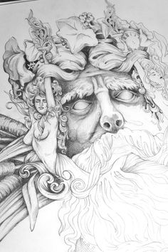 Greg coulton on behance dark tattoo, underwater art, greek gods, cool sketc Poseidon Drawing, Poseidon Tattoo, Cool Sketches, Drawing Sketches, Tattoo Drawings, Art Drawings, Underwater Drawing, God Tattoos, Mythology Tattoos
