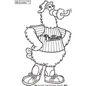 several pdfs of coloring pages for mlb mascots was looking everywhere for these lou