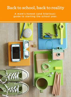 Notes from the Edge of Motherhood: Back to School, Back to Reality | Hallmark writer Amy Trowbridge-Yates shares her real-life, real-funny back-to school guide and making-it-up-as-we-go family lesson plans. #Hallmark #HallmarkIdeas