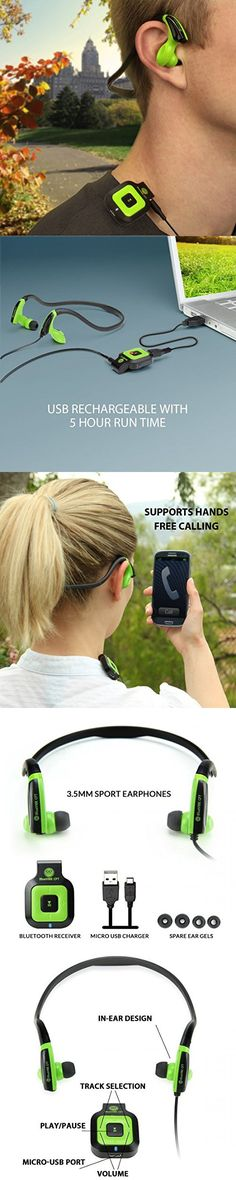 GOgroove Stereo Bluetooth Receiver & Sports Fitness Neckband Earphones - Works With Samsung Galaxy S6 Edge , LG G4 , Motorola DROID Turbo & More