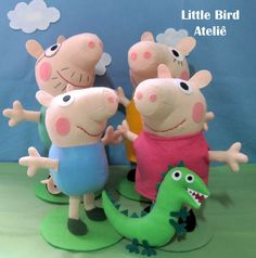 Família Peppa Pig! Contato littlebirdatelie@gmail.com