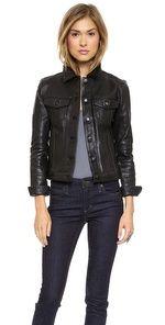 Joe's Jeans Leather Jacket Designer jackets