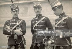 AUSTRIA - Hussars (cavalry) in their uniforms. Around 1900 Austrian Empire, Army Uniform, Military Uniforms, Germany Ww2, Austro Hungarian, Napoleonic Wars, Kaiser, World War I, Old Things