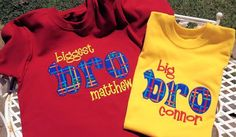 Big Biggest Brother Applique Shirt by MonogramItDesigns on Etsy, $25.00