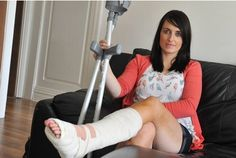 News for Jenna Thompson - 15-3-12 . Caroline Woodcock of Beverley Road, Anlaby who slipped and was knocked unconscious in the Cross Keys in Beverley, she was then dumped in an alleyway outside by bouncers. She has since had to have two operations on  Funny amazing laugh strange