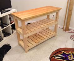 DIY Butcher Block Kitchen Island - DIY Butcher Block Kitchen Island You are in t. - DIY Butcher Block Kitchen Island – DIY Butcher Block Kitchen Island You are in the right place ab - Diy Kitchen Island, New Kitchen, Kitchen Decor, Kitchen Small, Space Kitchen, Kitchen Ideas, Moveable Kitchen Island, Kitchen Prep Table, Narrow Kitchen