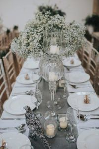 Grey Table Runners Wedding