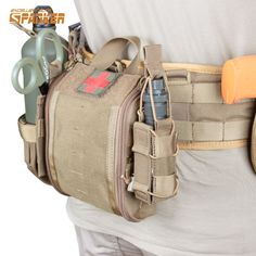 Military Tactical Molle EMT Emergency Medical First Aid Utility Pouch Outdoor Sports Airsoft Hunting Survival Gear Tactical Medic, Tactical Equipment, Tactical Vest, Accessoires Molle, Molle Gear, Airsoft Gear, Battle Belt, Camping First Aid Kit, Medical Bag