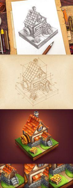 小房子建筑物图标-GAMEUI