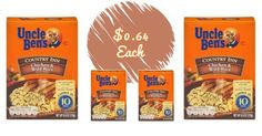 Uncle Ben's Rice Products As Low As $0.64/Box At Target!
