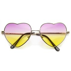 - Description - Measurements - Shipping - Adorable thin metal heart silhouette frame that are sure to win over hearts on all your sunny days! Features a beautiful multi color tinted lens. Made with a