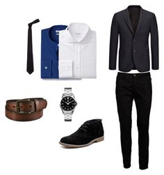 """Men's fashion"" by muhamed-hodzic ❤ liked on Polyvore featuring MANGO MAN, Joseph, Iceberg, Hush Puppies, TAG Heuer, Alexander McQueen, Uniqlo, men's fashion and menswear"