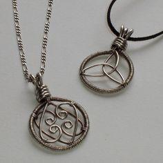 Love Pendants 2 designs included Wire Jewelry by Abbyjewellery