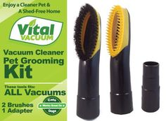 Unwanted Pet Hair Goes Into Your #Vacuum Cleaner Before it Has a Chance to Settle Around your Home! With this pet grooming vacuum brush kit by #Vital Vacuum, you ...