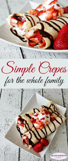 Simple Crepes / by BusyMomsHelper.com / easy breakfast recipe / snack idea/ simple recipe