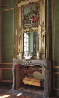 Inspiration only-- not a miniature scene. Ted and Lillian Williams restored French Folly - Chateau de Morsan built circa 1736 Normandy, France. Image from Book Judith Miller's COLOR French Cottage Decor, French Decor, French Country Decorating, French Country Colors, French Colors, French Style, French Interior Design, French Interiors, Vintage Interiors