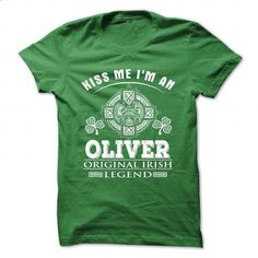 7 Kiss Me I Am OLIVER - t shirt designs #party shirt #red hoodie