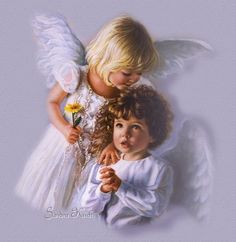 I especially love children angels as they make me think of my own special angel, our daughter Laura who lived on earth only six short days. I like to think of her as my little guardian angel, with me always. Angel Images, Angel Pictures, Baby Engel, I Believe In Angels, My Guardian Angel, Angels Among Us, Angels In Heaven, Heavenly Angels, Angel Art